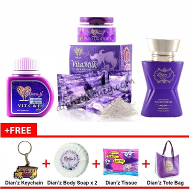 Combo Set 6 All Products Dianz Vitamin Dianz Beauty Dian Legacy Promo Promosi Testimoni